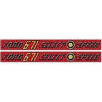 D-671H Years: 1958-62 Ford 671 Select-O-Speed Mylar Decal Set.