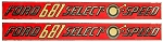 D-681H Years: 1958-62 Ford 681 Select-O-Speed Mylar Hood Decal (Set of 2)