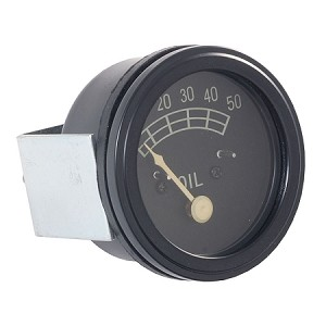 8N9273 Years:1950-52 50LB Oil Pressure Gauge. Black Bezel. Like Original.