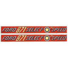 D-871H Years: 1958-62 Ford 871 Select-O-Speed Mylar Hood Decal. (Set of 2)
