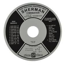 FDS163 Years:1939-52 Sherman Transmission Instruction Plate